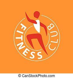 vector logo man running for fitness club