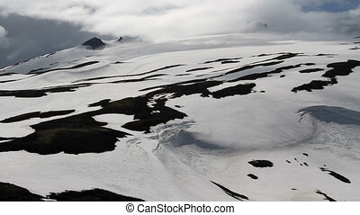 Iceland Snowy Mountain Landscape - Steady shot of Iceland...