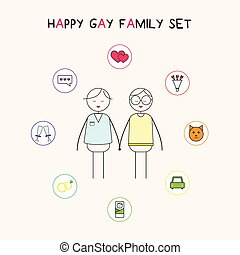 Happy gay family  - Gay family and their dreams