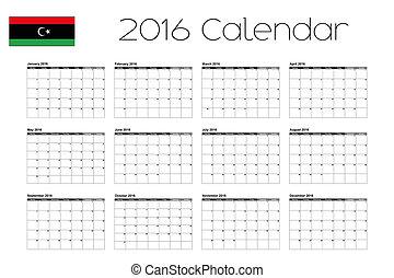 2016 Calendar with the Flag of Libya-46 - A 2016 Calendar...