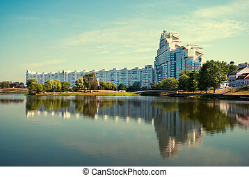 MINSK, BELARUS Building In Minsk, Downtown Nyamiha View With...