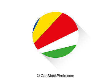 Round flag with shadow of Seychelles - A Round flag with...