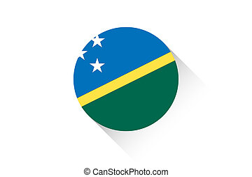 Round flag with shadow of Solomon Islands - A Round flag...