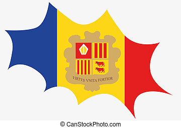Explosion wit the flag of Andorra