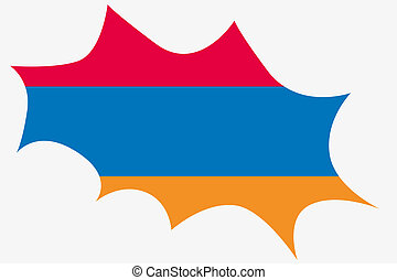 Explosion wit the flag of Armenia