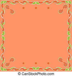 Bright Background with Frame