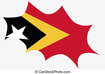 Explosion wit the flag of East Timor - An Explosion wit the...