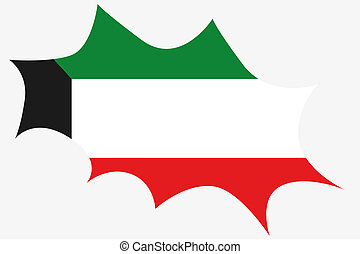 Explosion with the flag of Kuwait - An Explosion with the...