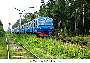 Train - Electric train in the forest