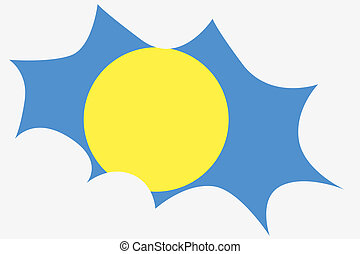 Explosion with the flag of Palau - An Explosion with the...