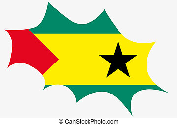 Explosion with the flag of Sao Tome E Principe - An...