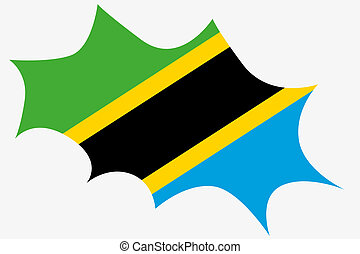 Explosion wit the flag of Tanzania - An Explosion wit the...