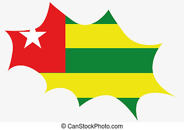 Explosion wit the flag of Togo - An Explosion wit the flag...