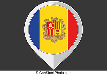 Pointer with the flag of Andorra