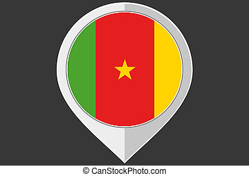 Pointer with the flag of Cameroon