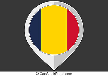 Pointer with the flag of Chad