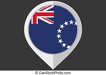 Pointer with the flag of Cook Islands - A Pointer with the...