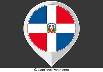 Pointer with the flag of Dominican Republic - A Pointer with...