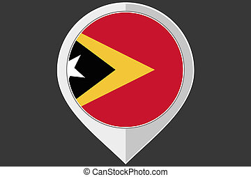Pointer with the flag of East Timor - A Pointer with the...