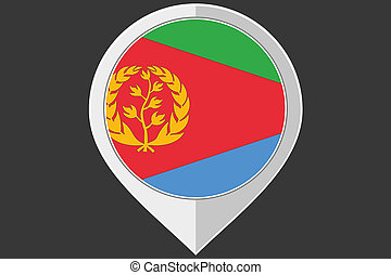 Pointer with the flag of Eritrea - A Pointer with the flag...