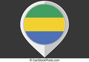 Pointer with the flag of Gabon - A Pointer with the flag of...
