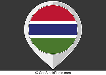 Pointer with the flag of Gambia - A Pointer with the flag of...
