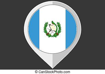 indicador, con, el, bandera, de, guatemala,