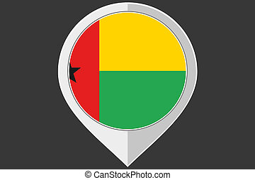 Pointer with the flag of Guinea Bissau - A Pointer with the...