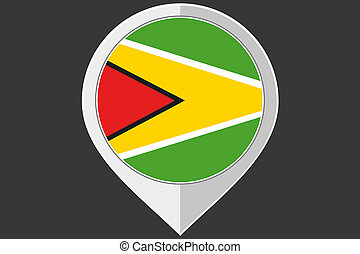 Pointer with the flag of Guyana - A Pointer with the flag of...