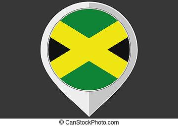 indicador, con, el, bandera, de, jamaica,