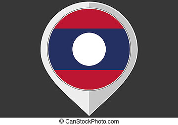 Pointer with the flag of Laos - A Pointer with the flag of...