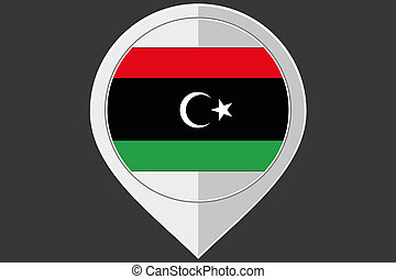 Pointer with the flag of Libya-46 - A Pointer with the flag...