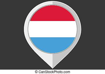 Pointer with the flag of Luxembourg