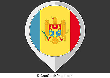 Pointer with the flag of Moldova - A Pointer with the flag...