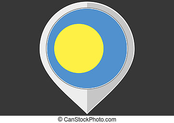 Pointer with the flag of Palau - A Pointer with the flag of...