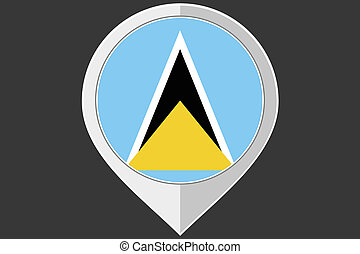 Pointer with the flag of Saint Lucia - A Pointer with the...