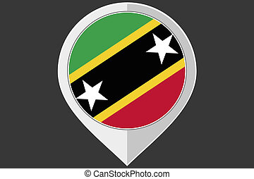 Pointer with the flag of Saint Kitts and Nevis - A Pointer...