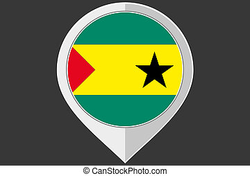 Pointer with the flag of Sao Tome E Principe - A Pointer...