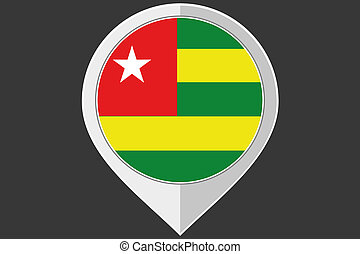 Pointer with the flag of Togo - A Pointer with the flag of...
