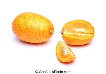kumquat - ripe kumquat on a white background