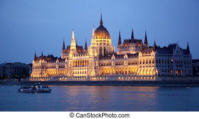 Ship passing by House of the Country, Budapest - The...