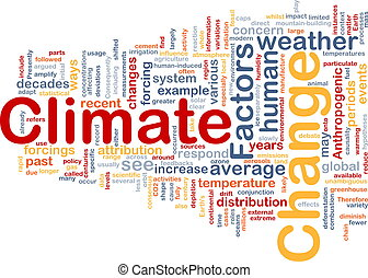 Climate change background concept