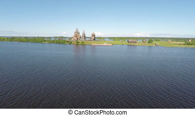 Flying over Kizhi island in Karelia - Flying over Kizhi...