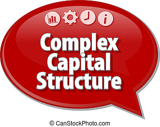 Complex Capital Structure Business term speech bubble...