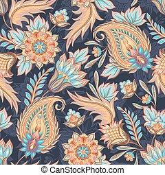 Seamless Paisley Pattern - Traditional oriental paisley...