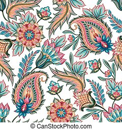 Seamless Paisley Pattern - Traditional oriental seamless...