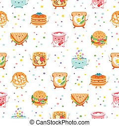 Best breakfast ever seamless pattern - Best breakfast ever...