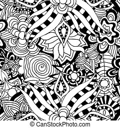 Ornament Pattern - Seamless Abstract Tribal Pattern. Hand...