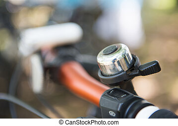 bicycle bell on handle bar, ring
