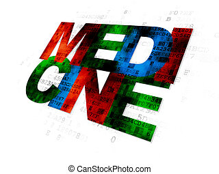 Health concept: Medicine on Digital background